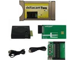 Deltacam Twin Deltacrypt + Unicam original USB-Combo Programmer Horizontal Bundle