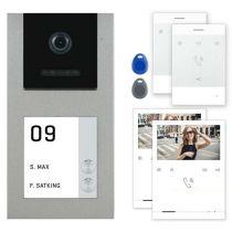 Vorschau: Balter EVO-AP Silber Video Türsprechanlage Quick-Talk RFID Intercom 2-Draht BUS Set für 2 Teilnehmer