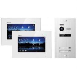 Balter EVO SILVER Video-Türsprechanlage 7 Touchscreen 2-Draht BUS Komplettsystem für 2 Teilnehmer
