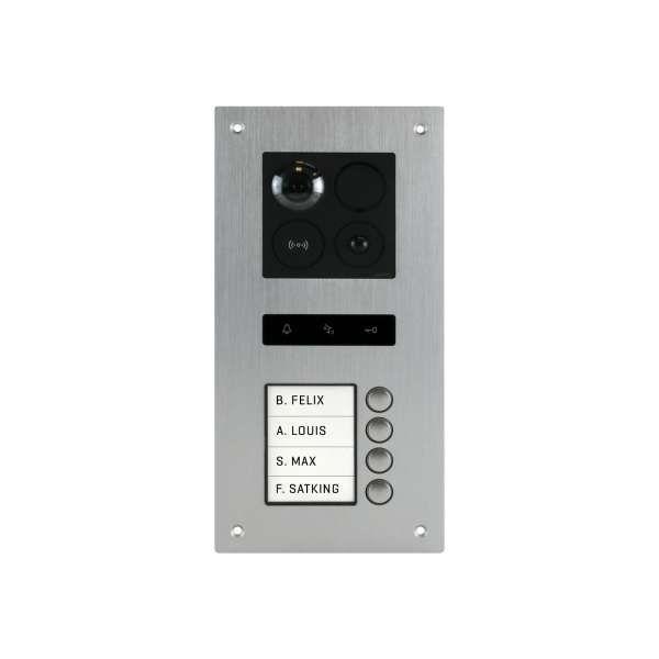 BALTER ERA Silber RFID 2-Draht BUS IP Türstation für 4 Familienhaus 150° Weitwinkelobjektiv