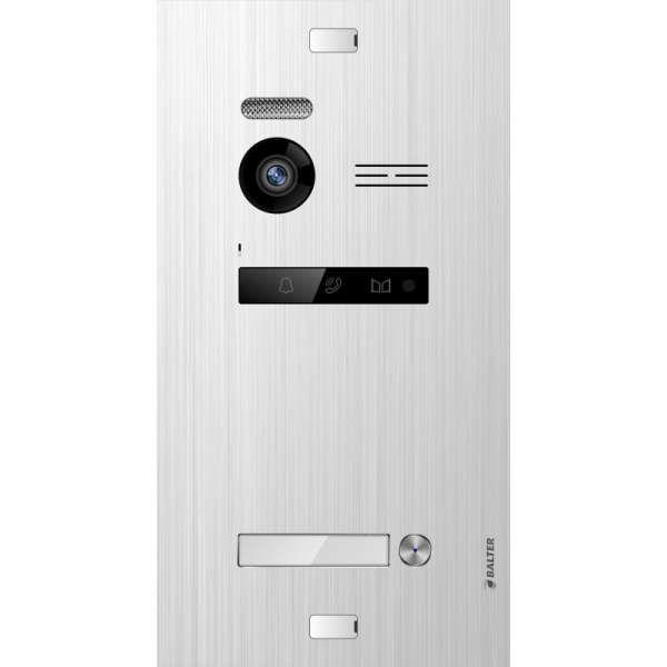 Balter EVO SILVER Video-Türsprechanlage 4x7 Touchscreen 2-Draht BUS Komplettsystem für 1 Teilnehmer