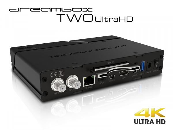 Dreambox Two Ultra HD BT 2x DVB-S2X MIS Tuner 4K 2160p E2 Linux Dual Wifi H.265 HEVC
