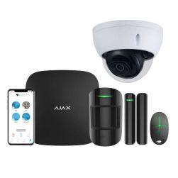 AJAX Alarmzentrale Hub Kit GSM LAN APP Steuerung Starter Paket Schwarz inkl. Dahua CAM