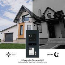 Vorschau: Balter ERA Graphit RFID 2-Draht BUS IP Türstation 2 Familienhaus 150° Weitwinkelobjektiv Aufputz