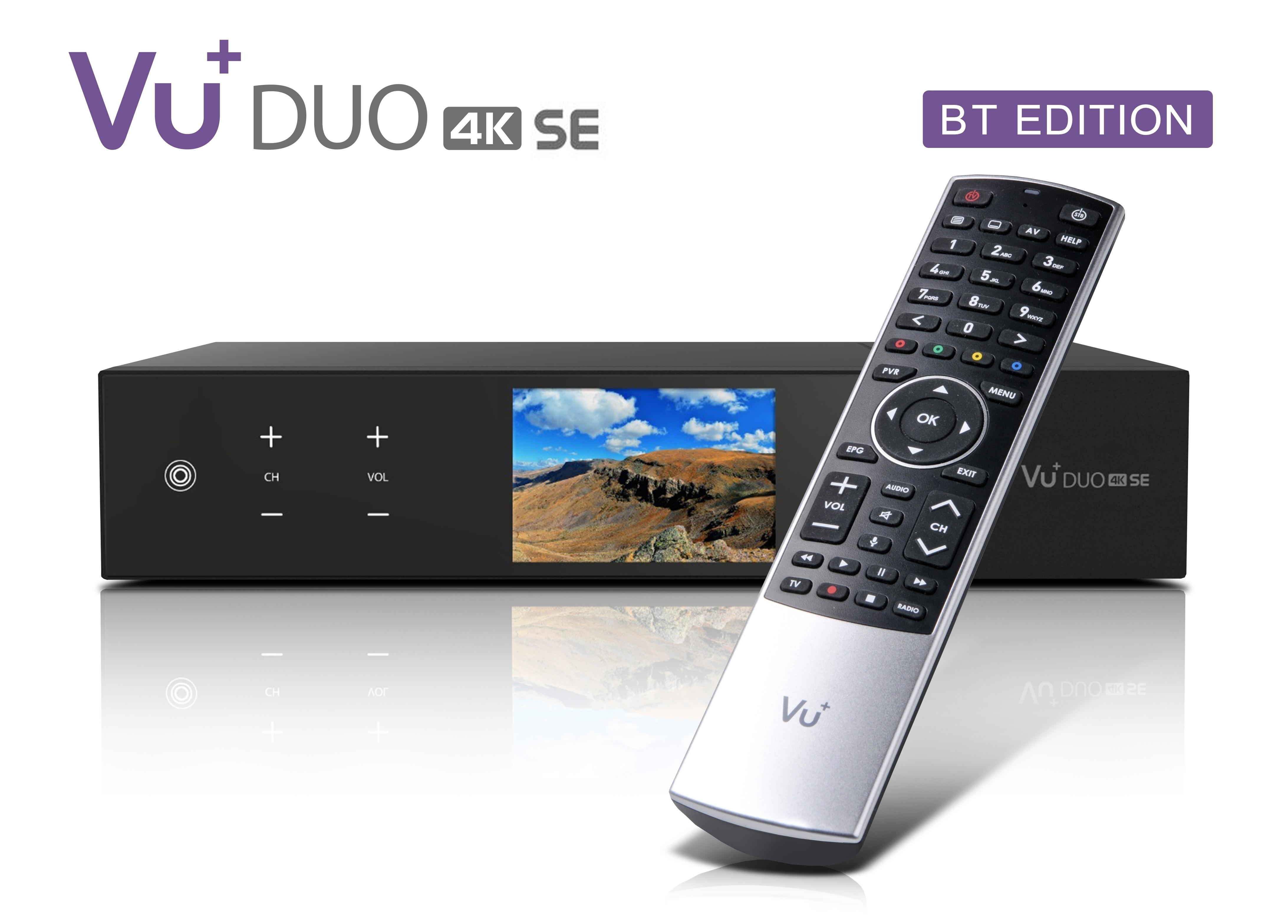 Receiver & Tuner VU+ Duo 4K SE BT 2x DVB-T2 Dual Tuner 5 TB HDD Linux Receiver UHD 2160p