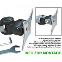 """Vorschau: DMP LCD Monitor-Tischhalter LCD 481 S für 13-27"""" silber"""