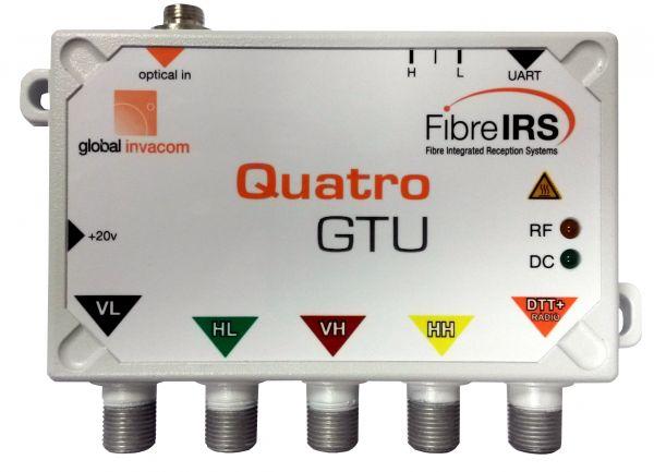 IRS Quattro Abschluss Einheit MKIII optisch -> HF-Konverter mit terr. Ausgang für Multischalter