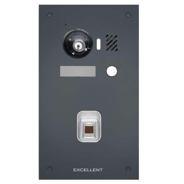 Excellent IP Video Aussenstation 150° Kamera für 1 Familienhaus Fingerpint Anthrazit