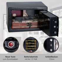 Vorschau: Anadol Tresor Basic ? elektronischer Mini-Tresor mit Zahlenschloss & Notfallschlüsse 4L