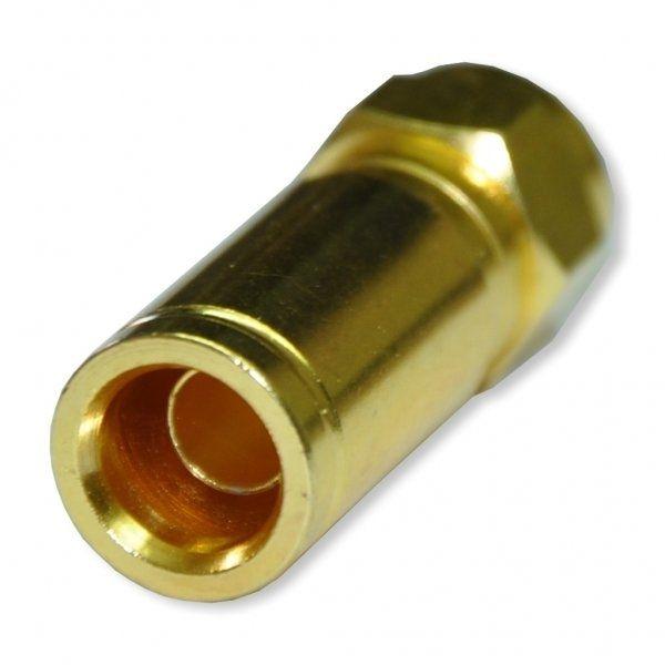Kompressionstecker Gold für Kabel-Ø 8-8,2mm Vollmetall