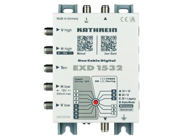 Kathrein EXD 1532 Einkabel-Multischalter 4 Modi Stand Alone