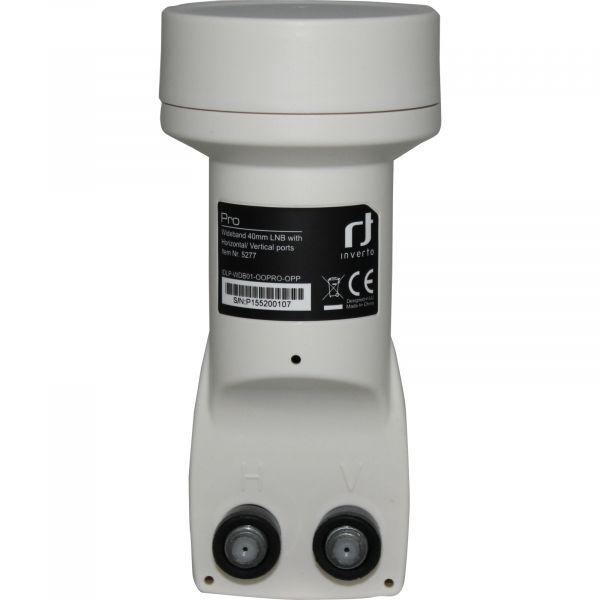 Inverto Pro Wideband 40mm LNB mit Horizontal/Vertikal Ports - IDLP-WDB01-OOPRO-OPP