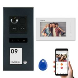 Balter ERA Graphit RFID 2-Draht IP 7 WiFi Video Türstation Aufputz iOS Android Set 1 Familienhaus