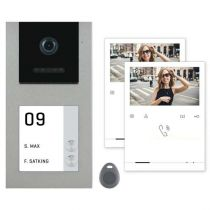 Vorschau: Balter EVO-AP Silber Quick Video Türsprechanlage 2-Draht BUS RFID Aufputz Set für 2 Familienhaus