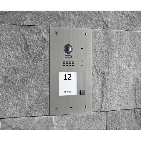 BALTER EVIDA Silber RFID Edelstahl BUS Video Türstation Set 4.3 Wifi APP 1 Familienhaus
