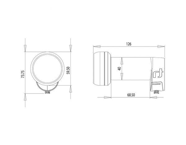 Inverto Single Black Ultra IDLB-SINL40 0,2 dB