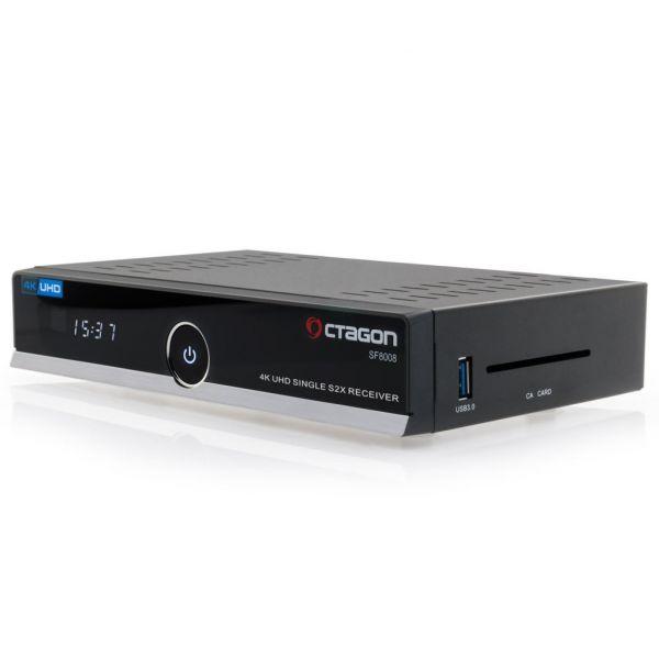 Octagon SF8008 4K UHD 2160p H.265 HEVC E2 Linux DVB-S2X Single Sat Receiver 300Mbit Wlan