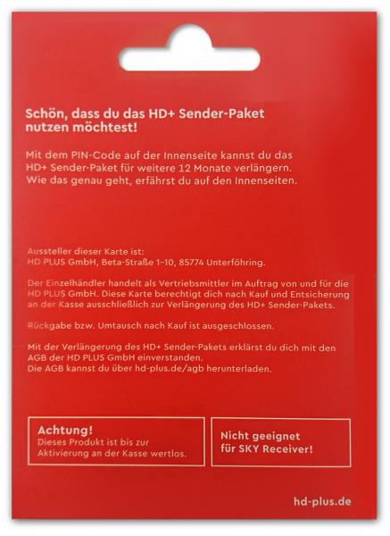 HD+ Verlängerung 12 Monate für alle HD Plus Karten HD01/02/03/04/05 geeignet