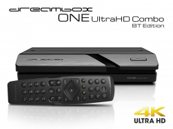 Dreambox One Combo Ultra HD BT 1x DVB-S2X / 1xDVB-C/T2 Tuner 4K 2160p E2 Linux Dual Wifi H.265