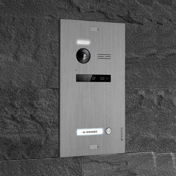 Balter EVO SILVER Video-Türsprechanlage 3x7 Touchscreen 2-Draht BUS Komplettsystem für 1 Teilnehmer