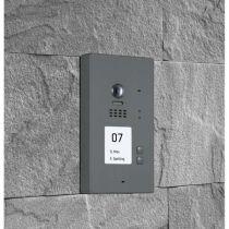 Vorschau: BALTER EVIDA Graphit RFID Edelstahl 2-Draht BUS Video Türstation Aufputz 2 Familienhaus Set