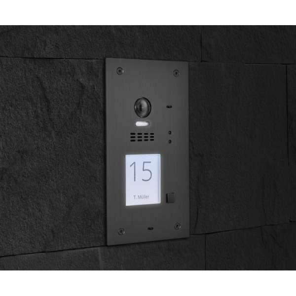BALTER EVIDA Graphit RFID Edelstahl 2-Draht BUS Video Türstation 7 Monitor 1 Familienhaus Set