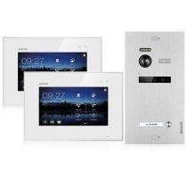 Vorschau: Balter EVO SILVER Video-Türsprechanlage 2x7 Touchscreen 2-Draht BUS Komplettsystem für 1 Teilnehmer