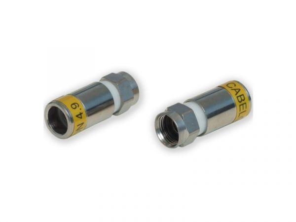 Cabelcon F-56-CX3 4.9 - gelb - F-Stecker RG6 Compression