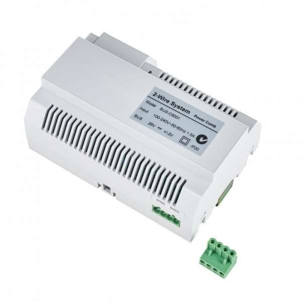Balter Graphit EVIDA RFID 2-Draht BUS Video Türstation 2x7 Monitor Set für 1 Teilnehmer
