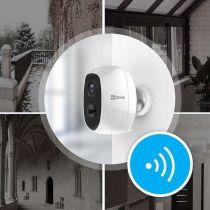 Preview: Ezviz C3A WLAN Outdoor 1080P Überwachungskamera Akku IP65 Nachtsicht Weiss