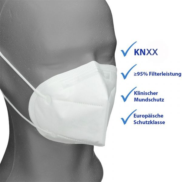 10er Satz Mundschutz Atemschutzmaske KNXX Mund-Nasen-Schutz 4-lagig Schutzmaske
