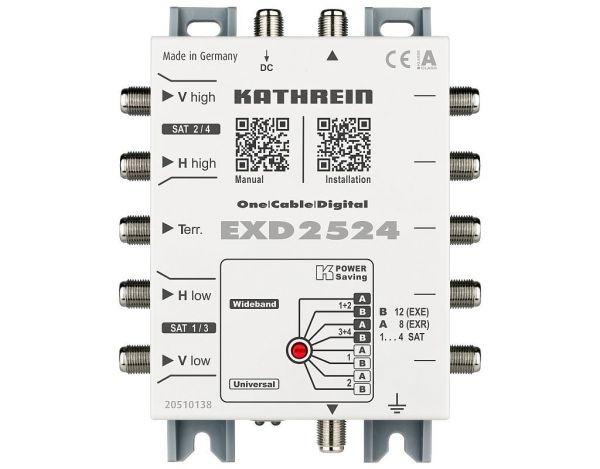Kathrein EXD 2524 Unicable Kaskade 5 auf 24 (2x12) zur Erweiterung