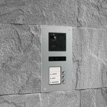 Preview: BALTER ERA Silber RFID 2-Draht BUS IP 7 WiFi Video Türstation iOS Android App für 3 Familienhaus