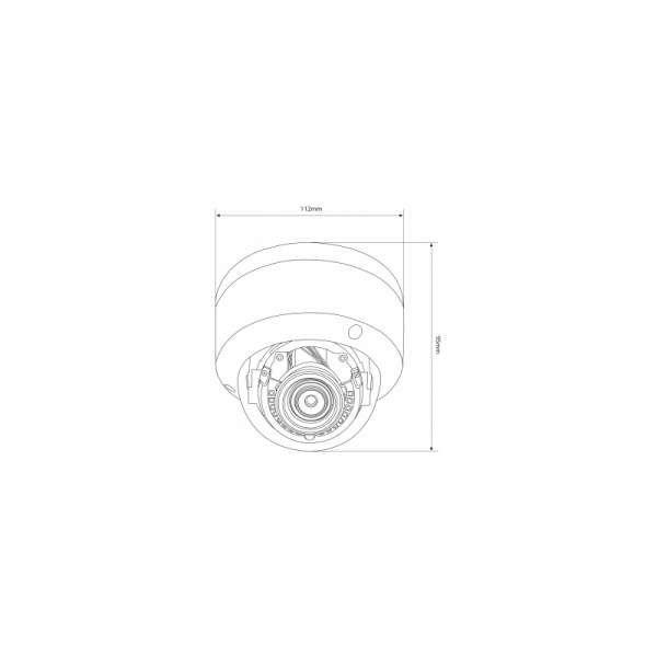 Balter IP-DW2511VR Dome 5.0MP 2592x1944p H.265 IR 2.8mm IP Kamera WDR 30m Nachtsicht