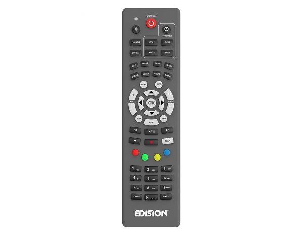 Edision OS nino pro DVB-S2X + DVB-T2/C Full HD Receiver grau