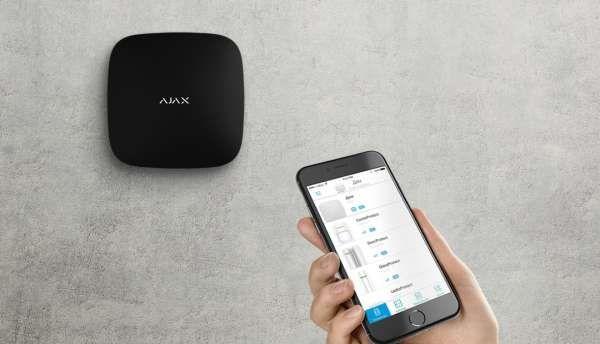 AJAX Alarmzentrale Hub Plus Jeweller Dual GSM LAN WIFI APP Steuerung Schwarz