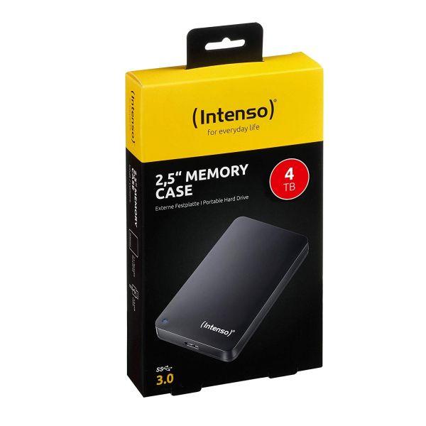 Intenso Memory Case 4 TB Externe Festplatte (6,35 cm (2,5 Zoll) 5400 U/min, 8 MB Cache, USB 3.0)