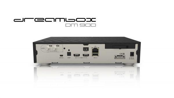 Dreambox DM900 UHD 4K 1x DVB-S2 Dual Tuner E2 Linux PVR Receiver