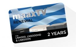 MaaxTV Verlängerung für MaaxTV LN4000 / LN5000HD / LN6000N - Greek - Laufzeit 2 Jahr