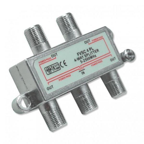 SAT-Verteiler 4-fach, Splitter, F-Anschlüsse