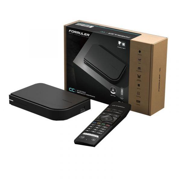 Formuler CC 4K UHD IPTV Android 7 Player mit DVB-T2 Tuner H.265 2GB RAM 16GB Flash, Wlan, Schwarz