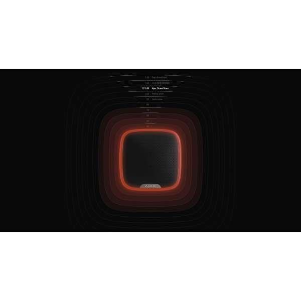 AJAX Funk Außensirene 113dB StreetSiren Smarthome & APP-Funktion für AJAX Hub Schwarz