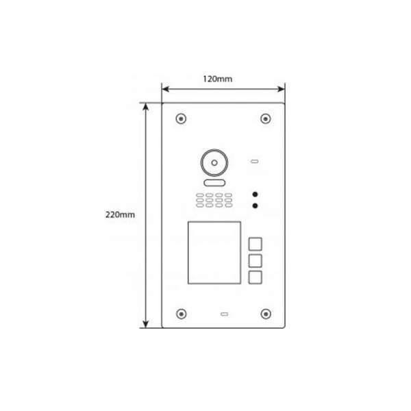 BALTER EVIDA Silber RFID Edelstahl-Türstation 3 Teilnehmer 2-Draht BUS 170° Ultra-Weitwinkelkamera