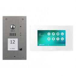 BALTER EVIDA Silber RFID Edelstahl Video Türstation 7 Set für 1 Teilnehmer 2-Draht BUS 170° Kamera