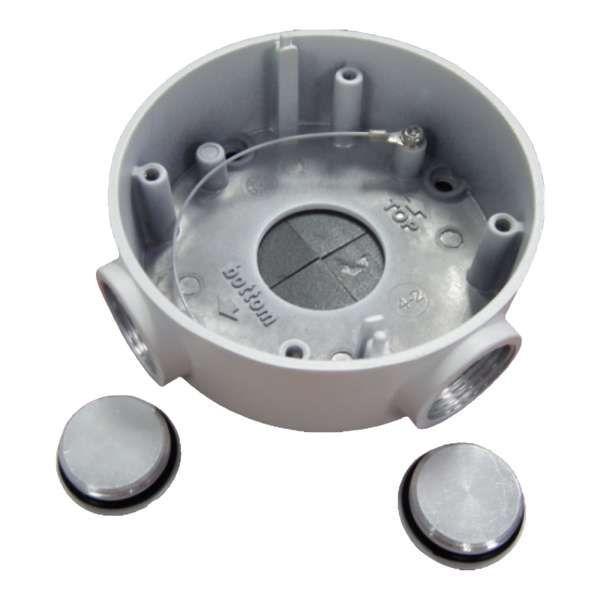 Sabvision JB 2500 Alu-Anschlussdose/Junction Box für 2500 Exir Bullet IR PoE IP-Kamera