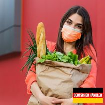 Vorschau: 50er Satz Mundschutz Atemschutzmaske Mund-Nasen-Schutz 3-lagig Schutzmaske Orange