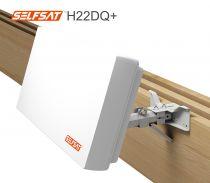 Vorschau: Selfsat H22DQ+ Flachantenne mit austauschbaren Quattro LNB