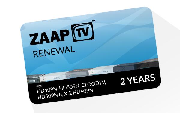 ZaapTV -Greek- 2 Jahres Verlängerung für HD409N, HD509N, HD609N usw.