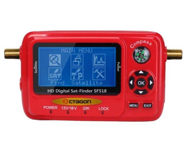 Octagon SF 518 LCD HD Satfinder Messgerät mit USB Spektrum