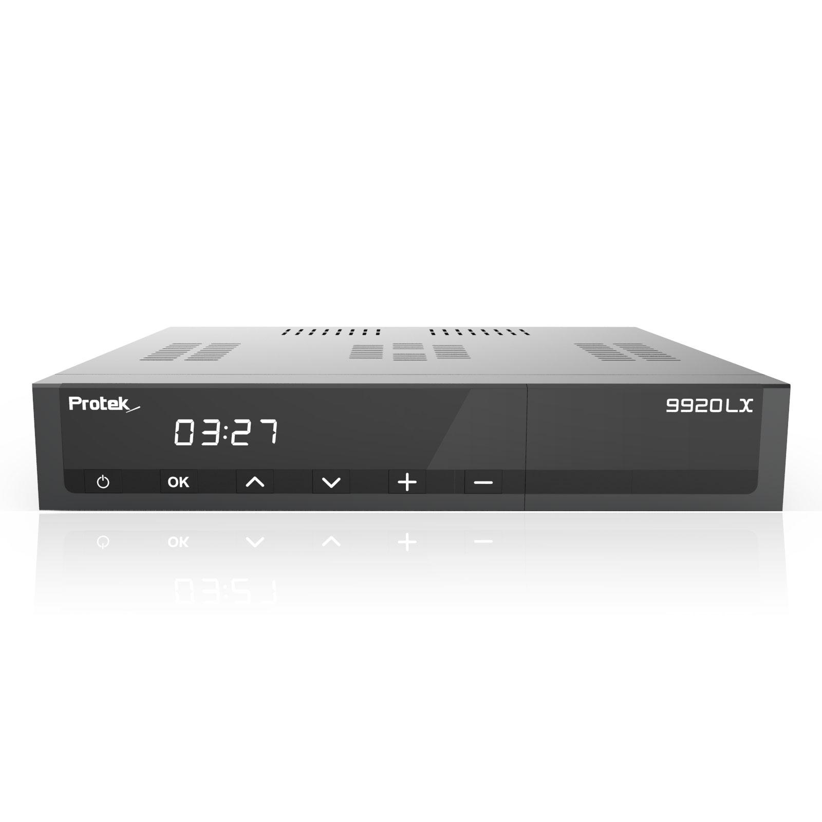 Sat-Receiver Protek 9920 LX 1x DVB-S2 Tuner E2 Linux HDTV Full HD 3D HEVC H.265 Sat Receiver